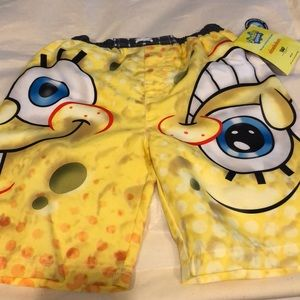 Swim shorts Spongebob Squarepants boys new sz 4/5